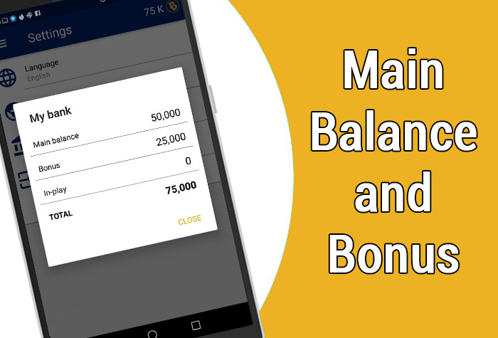 "What are ""Main Balance"" and ""Bonus"" balance in the bycoins?"